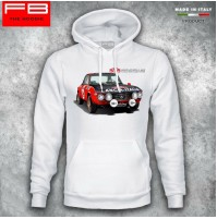 Felpa Hoodie Lancia Fulvia HF Abarth Rally Legend Montecarlo World Rally Old FB