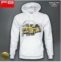 Felpa Hoodie RENAULT 5 GT Turbo ALPINE Group B Team Diac Rally Legend Ragnotti