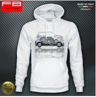 Felpa Hoodie Renault Clio Williams Maxi Kit Car Team Diac France A Ragnotti WRC