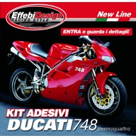 KIT ADESIVI DUCATI 748 R-S DESMOQUATTRO ORIGINAL RED ALTA QUALITA! TOP QUALITY !