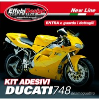 KIT ADESIVI DUCATI 748 R-S YELLOW DESMOQUATTRO CORSE ORIGINAL TOP/HIGHT QUALITY!