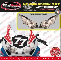 KIT Adesivi/Stikers FARI HEADLIGHT HONDA CBR 1000RR 08-16 SBK HRC TOP QUALITY