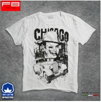 T-Shirt Al Capone Chicago Cool Moda Gangstar Mafia Boss Vintage Car City FB SLUB