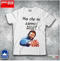 T-Shirt Maglietta BUD SPENCER  Ma che ne sanno i 2000? Film Legend Cult FB TEE