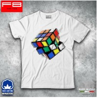 T-Shirt Maglietta Uomo Cubo di Rubik Sheldon Big Bang Theory 80's Play Game Old
