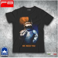 T-Shirt NASA WE NEED YOU Space Shuttle Program Astronauta Star Wars FB TEE