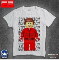 T-Shirt Toy Boy Lego Mattoncino Uomo Oggetto Escort Cool Idea Regalo FB SLUB