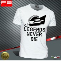 T-shirt AYRTON SENNA F1 Williams World Champion Driver Legends Never Die FB TEE