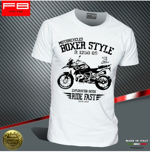 T-shirt BMW R1250 GS Hp Exclusive Adventure Boxer Style Engine Motorrad FB TEE