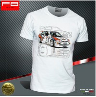 T-shirt Ford Escort Cosworth Martini Racing Rally Gr A History Champion FB TEE