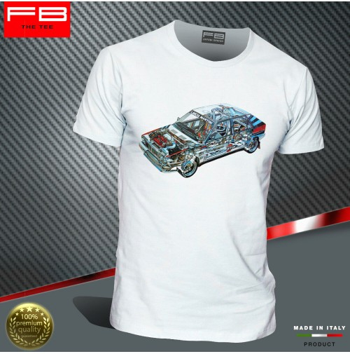 T-shirt Lancia Delta Evoluzione HF Martini Racing Rally Legend Engine FB TEE