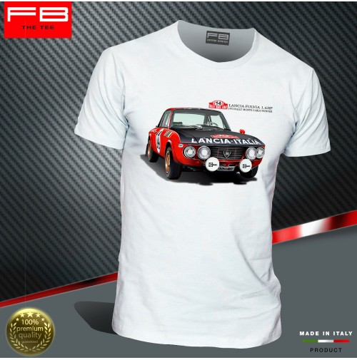 T-shirt Lancia Fulvia HF Abarth Rally Legend Montecarlo World Rally Old FB TEE