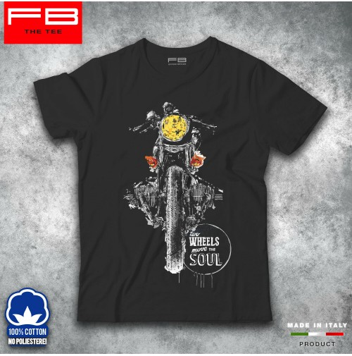 T-shirt Maglietta Bmw Boxer Art Vintage Cafè Racer 2 wheels move the soul FB TEE