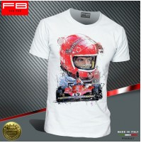 T-shirt NIKI LAUDA F1 World Champion Ferrari 312T McLaren MP4/3 1975 Art FB TEE