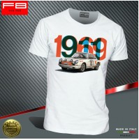 T-shirt Porsche 911 1969 Tour the France Winner Rally Legend Montecarlo FB TEE