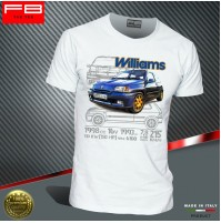 T-shirt Renault Clio WILLIAMS 2.0 16V Maxi Rally Legend Montecarlo Old FB TEE