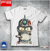 T-shirt Uomo BENDER TATOO FUTURAMA CARTOON TV SERIES Idea Regalo Natale FB TEE