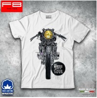 T-shirt Uomo CAFE RACER Vintage Wheel Move The Soul Motorbike Triumph Bmw FB TEE