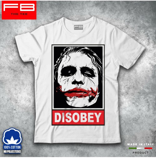 T-shirt Uomo Disobey JOKER Smile Hipster Fuck Off Moda Cool Idea Regalo FB TEE