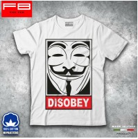 T-shirt Uomo Disobey Vendetta Hipster Fuck Off Moda Cool Idea Regalo FB TEE