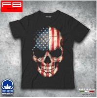 T-shirt Uomo Skull 6 Teschio USA FLAGS STATES Rock Harley Davidson Riders FB TEE