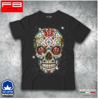 T-shirt Uomo Skull Mexican Teschio Messicano Moda Rock Cool Idea regalo FB TEE