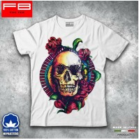 T-shirt Uomo Skull3 Teschio Mexican Urban Moda Rose Rock Idea Regalo Cool FB TEE