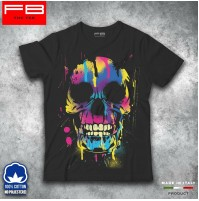 T-shirt Uomo Skull4 Teschio Mexican Urban Moda Rock Black Idea Regalo FB TEE