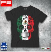 T-shirt Uomo Skull7 Mexican Teschio Messicano Moda Rock Cool Idea regalo FB TEE