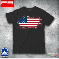T-shirt Uomo USA American Flags United States Of America Grounge Cool FB TEE