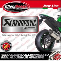 adesivo/Sticker AKRAPOVIC  Z 800 750 1000 RACING  ALTE TEMPERATURE 200° H.QUALIT