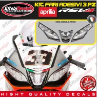 kit Adesivi/Stikers FARI HEADLIGHT APRILIA RSV4 RACING SBK FACTORY TOP QUALITY !